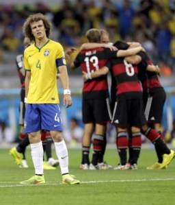Luiz looked lost against Germany and too often out of position  (Image from PA)