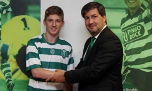 Gauld arrives at Sporting Lisbon (Image from AFP)