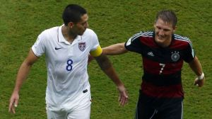 Adidas branded Germany Beat the Nike branded USA in the group stage  (Image from PA)