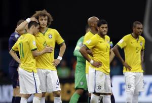 Down and Out - Brazil crashed out of the World Cup in stunning fashion (Image from AP Photo/Natacha Pisarenko)