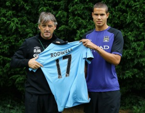 Rodwell has seen limited first team action since joining City  (Image from Getty)
