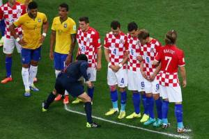 The vanishing spray is used during the World Cup  (Image from Getty)