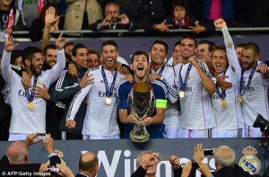 Real Madrid clinched the first trophy of the season (Image from Getty)