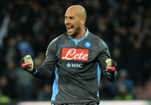 Reina spent last season on loan at Napoli (Image from AFP)