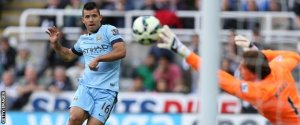 Aguero strikes late into injury time to make it 2-0  (Image from Getty)