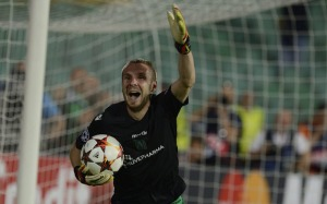 Cosmin Moti becomes a legend with two penalty saves (Image from Getty)