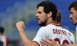 Chelsea are keen on Roma's Mattia Destro  (Image from AFP)