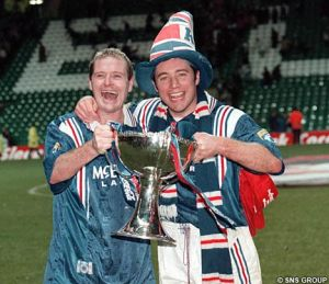 Pair of Jokers - McCoist and Gazza during their Rangers days  (Image from SNS)