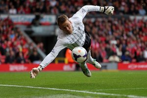 Mignolet had a solid first season but can he repeat it? (Image from PA)