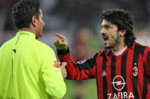 Fiery character during his playing days - Rino Gattuso  (Image from AFP)