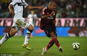 De Jong scored a wonderful goal to put Milan 4-2 ahead  (Image from AFP)