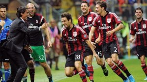 Milan grabbed all three points in an epic match with Parma (Image from Getty)