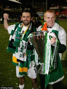 Former Celtic teammates Hartley and Lennon both in the running for the Cardiff job  (Image from Getty)