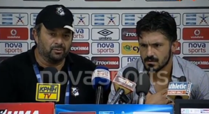 Gattuso loses his cool in the press conference  (Image from YouTube)