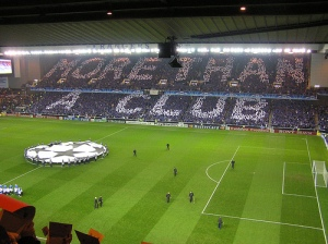 A packed Ibrox Stadium during a Champions League game  (Image from Getty)