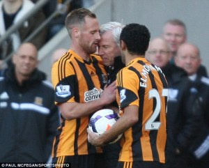 Moment of madness by Pardew on Meyler  (Image from Paul McFegan/Sportsphoto)