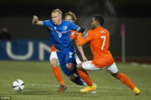 Iceland continue to show improvements with a well fought 2-0 win over Holland (Image from Getty)