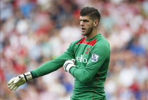Imposing Figure - Southampton goalkeeper Frazer Forster   (Image from Getty)