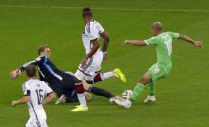 Neuer performed the role of sweeper keeper at the 2014 World Cup  (Image from Getty)