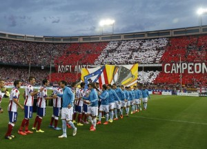 Eibar take on champions Atletico Madrid in their first La Liga season (Image from AFP)