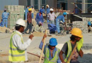 Ethical debates over Qatar's poor migrant working conditions continue (Image fro Getty)