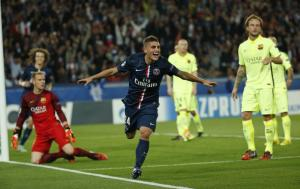 PSG held on for a valuable 3-2 win over Barcelona  (Image from AFP)