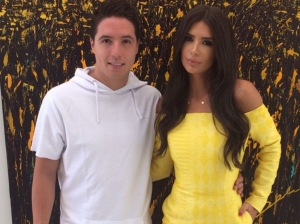 Anara Atanes, pictured with Nasri blasted Deschamps for not picking him for the World Cup (Image from Getty)