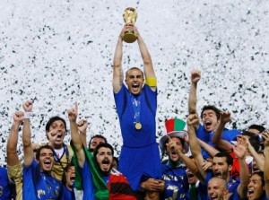 Cannavaro lifts the World Cup for Italy in 2006  (Image from Getty)