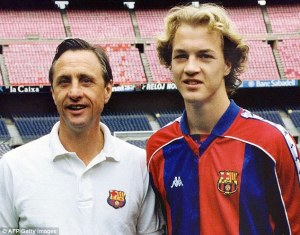 Father and Son - Yohan and Jordi Cruyff  (Image from AFP/Getty)