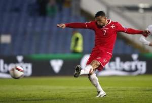 Failla converts the penalty that gives Malta a point against Bulgaria  (Image from PA)