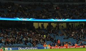 City fans stay away from Champions League matches  (Image from Getty)