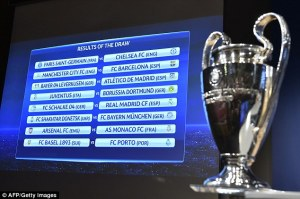 Tough draw for UK teams in Europe (Image from UEFA)