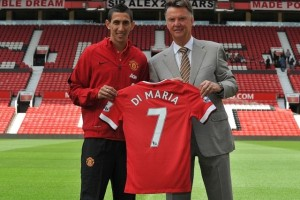 Big name arrivals like Di Maria please Van Gaal (Image from PA)