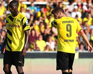 Shot Shy - Ramos and Immobile have struggled to find their footing since joining Dortmund (Image from PA)