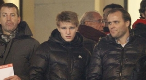 Martin with father Hans take in a Real Madrid match earlier this year  (Image from Getty)