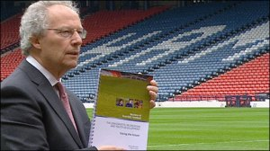 The late Henry McLeish and his report  (Image from STV)