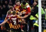 Bradford City shocked Chelsea by coming back from 2-1 down to win (Image from Getty)