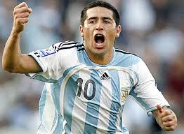 Riquelme played over 51 times for Argentina including at the 2006 World Cup  (Image from Getty)