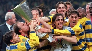 With stars like Cannavaro, Crespo and Dino Baggio, Parma won the 1995 UEFA Cup  (Image from AFP)