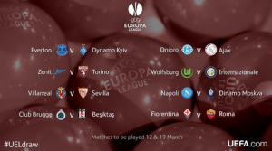The draw for the last 16 has thrown up some interesting clashes  (Image from UEFA)