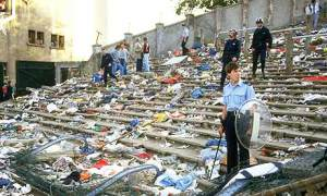 The deaths at the Heysel Stadium rocked football  (Image from Getty)