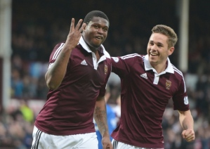 Hearts on course for the title after 10-0 demolition of Cowdenbeath (Image from Getty)