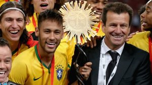 All smiles again as Dunga and Neymar put Brazil back on track (Image from PA)