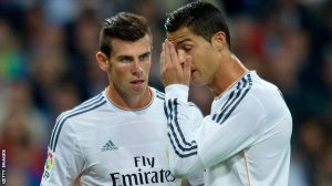 Bale and Ronaldo have had a rocky relationship at Real  (Image from Getty)