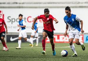 Rising star Anumnathan Kumar in action against Palestine  (Image from Getty)