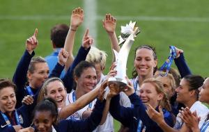 Record breakers - The US women's national team lifted its 10th Algarve Cup  (Image from AFP)