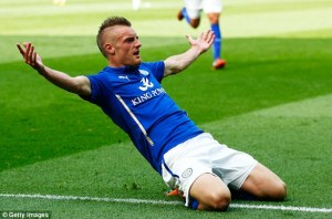 Vardy's strike handed Leicester a much needed 3 points (Image from Getty)