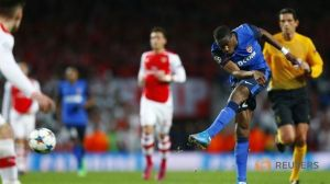 Kondogbia blasts Monaco into the lead against Arsenal  (Image from Reuters)