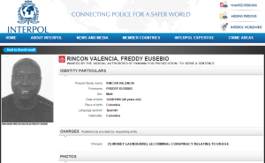 Interpol are looking for Rincon in relation to money laundering charges  (Image from Interpol)