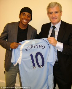 Robinho's arrival marked the start of the crazy spending by City  (Image from PA)